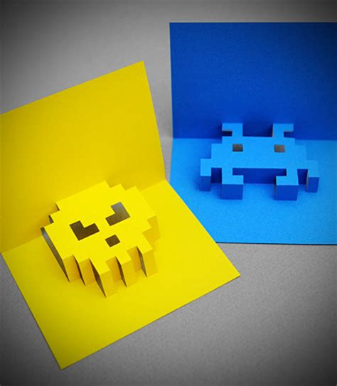 make a pop up birthday card how to make an 8 bit pop up greeting card made diy