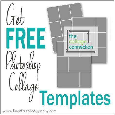 free card photo collage template find free photoshop templates free collage templates