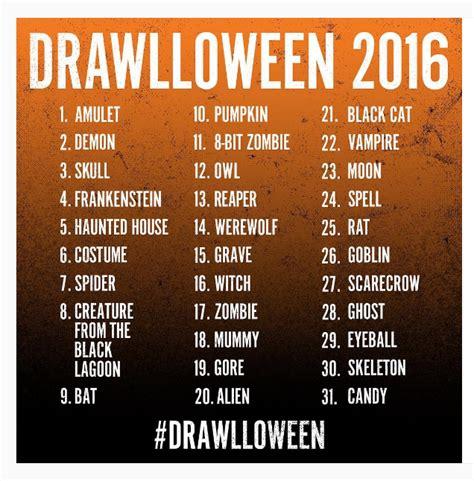 art 111 lisr 2016 drawlloween 2016 list by dacoomes on deviantart