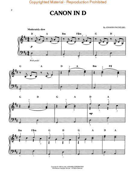 printable piano sheet music canon in d canon in d easy piano sheet music by johann pachelbel