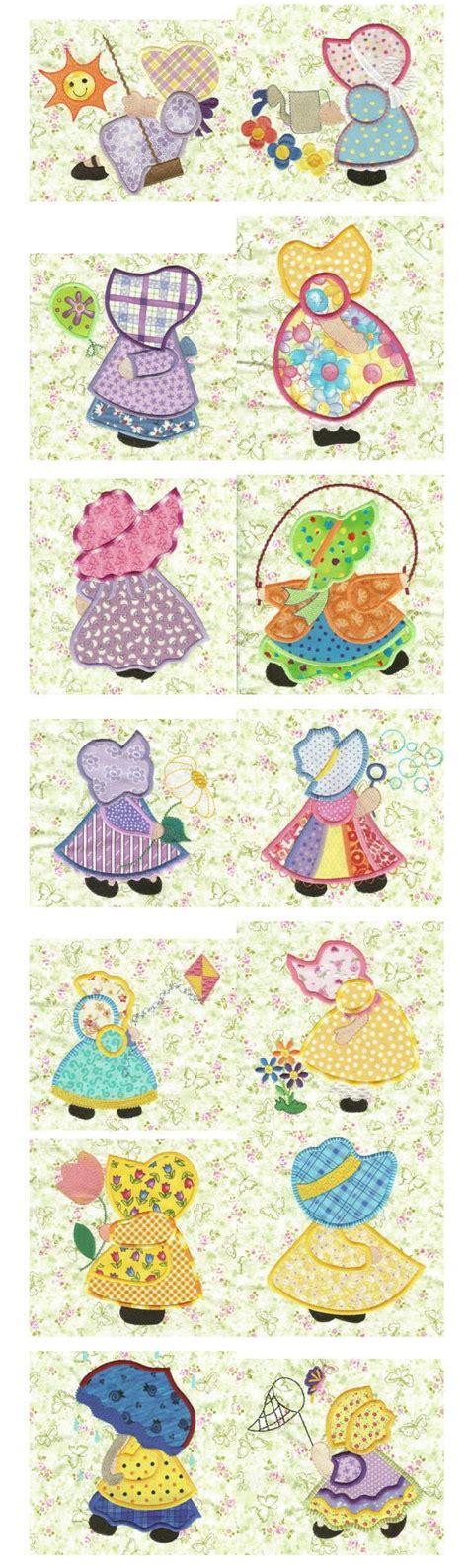 sunbonnet sue applique 1284 best sunbonnet images on embroidery