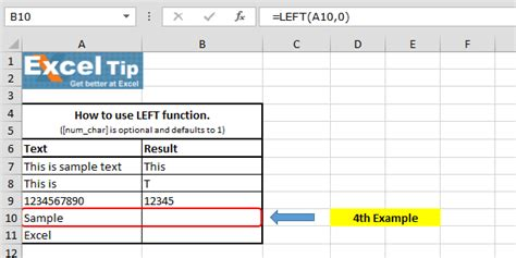 excel tutorial left left function in microsoft excel microsoft excel tips