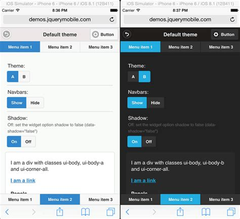 tutorial for jquery mobile themes in jquery mobile tutorial webucator