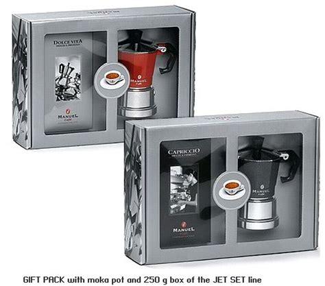 Gift Set of Moka Maker   Stovetop   with Coffee   Italian Caffe