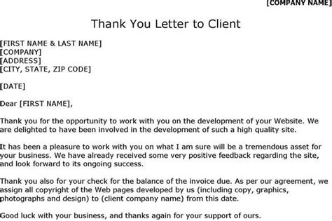 thank you letter to outstanding thank you letter to client ideas customer thank you