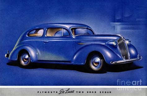 1937 plymouth deluxe two door sedan painting by vincent