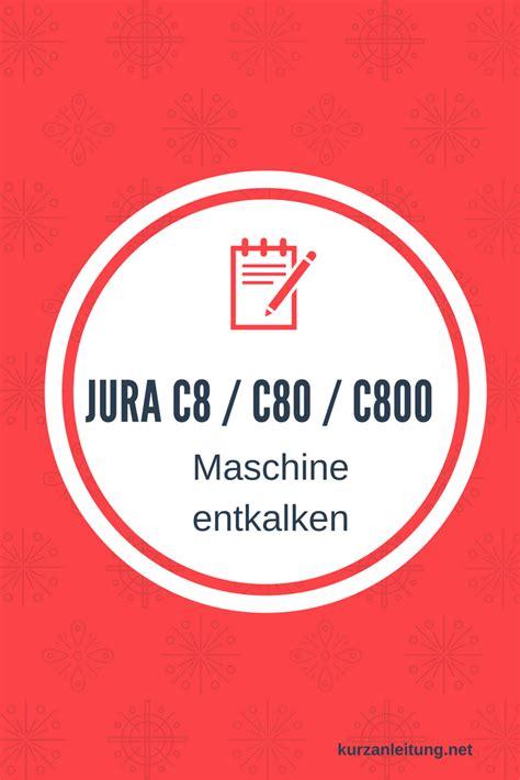Jura Kaffeeautomat Entkalken by Jura E8 E80 E800 Kaffeevollautomat Entkalken