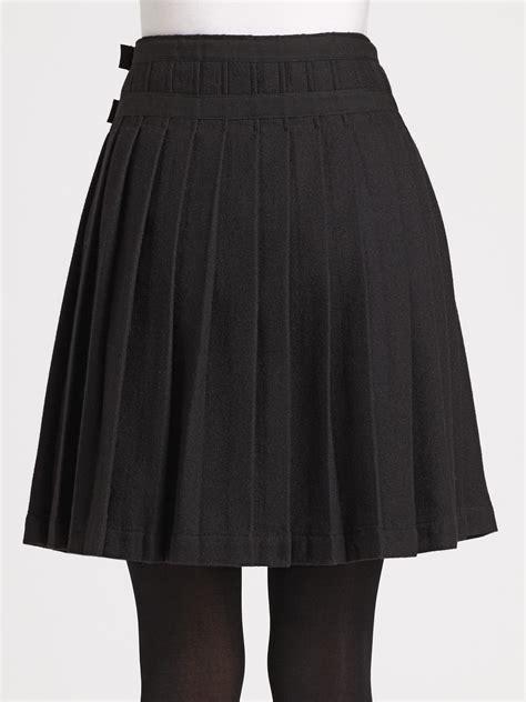 lyst burberry brit pleated kilt skirt  black