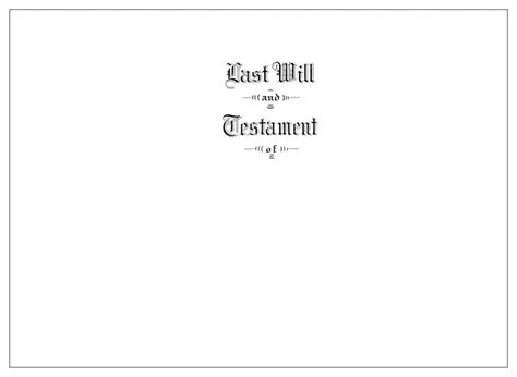 39 Last Will And Testament Cover Page Template Standart Davidhamed Com Last Will And Testament Cover Page Template