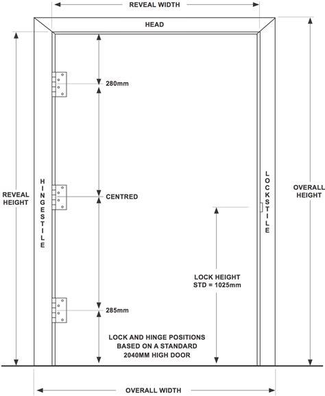 door height door height front door handle height standard