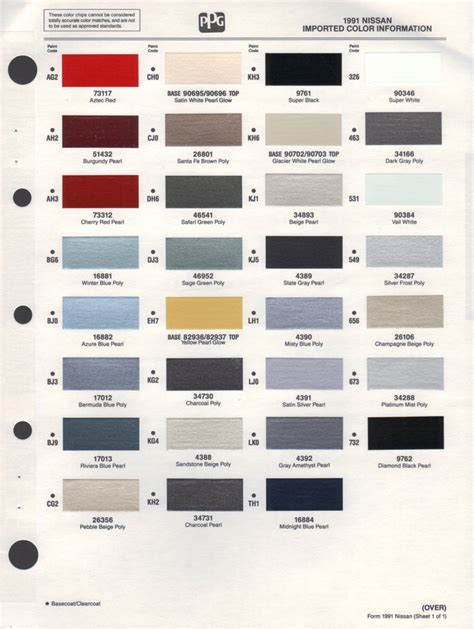 ppg paint colors ppg paint color chart images