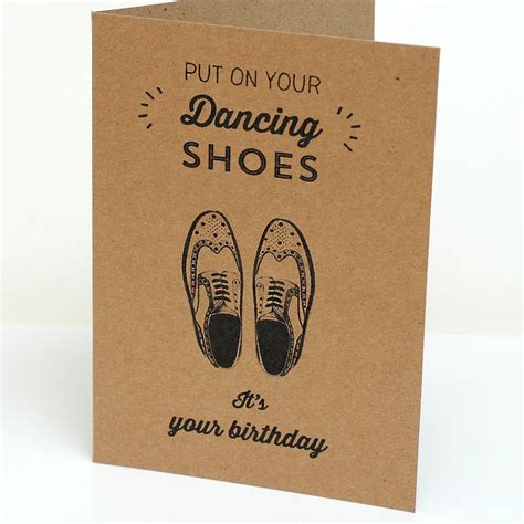 card for card brogues birthday card by papergravy