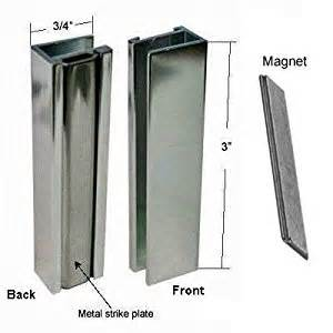magnetic for shower door brushed nickel shower door u channel with metal strike and