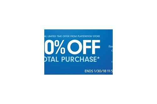 coupon codes for playstation store 2018