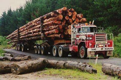 zealand logging trucks