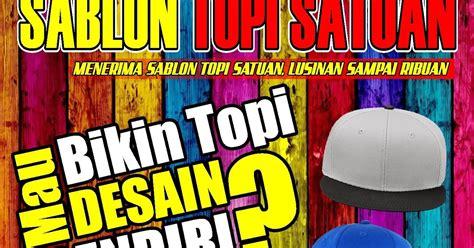 Snabpack Bahan Custom Suka custom topi satuan bikin topi custom bandung sablon topi