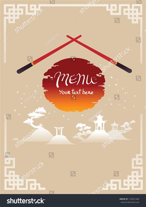 asian menu template template design of asian menu stock vector 123421444