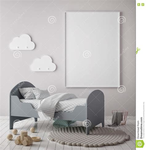 Picture Frames For Children S Bedroom Mock Up Poster Frame In Children Bedroom Scandinavian