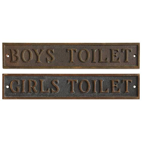 antique bathroom sign antique school restroom bronze signs at 1stdibs