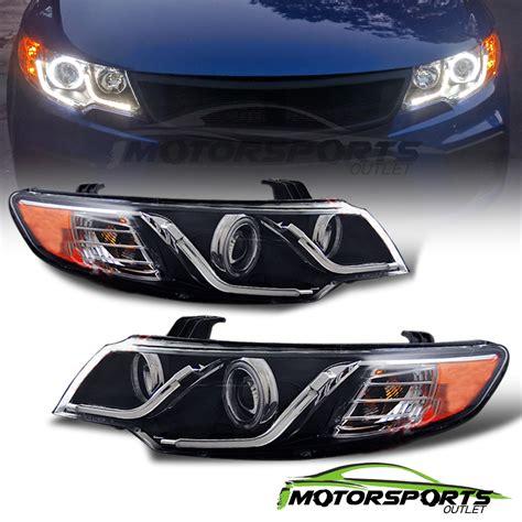Kia Forte Koup Led Headlights Ccfl Halo Led Bar Style For 2010 2011 2012 2013 Kia Forte