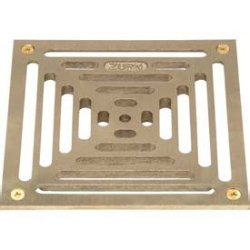 10 Inch Floor Drain Cover by Drains Traps Floor Drains Zurn 10 Quot X 10 Quot Square Floor Drain W Screws Brass B677528