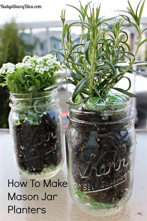 how to make planters how to make jar planters budget savvy