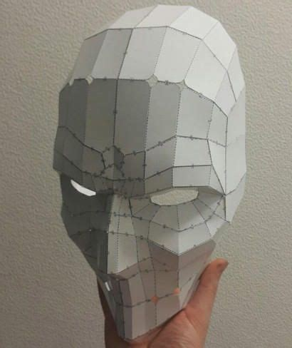 cardboard mask template size punisher mask papercraft free template