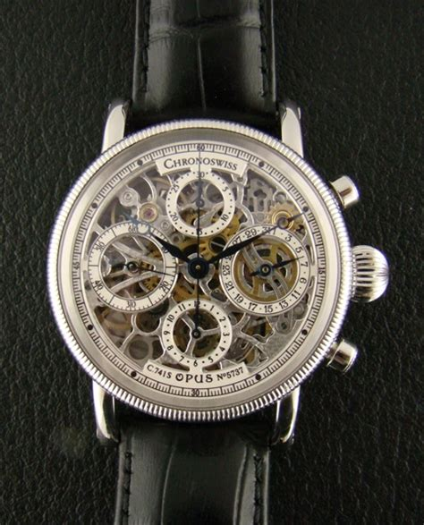 B1 Rolex Skeleton Leather 11 White Co chronoswiss opus chronograph in steel sgd 0 hj