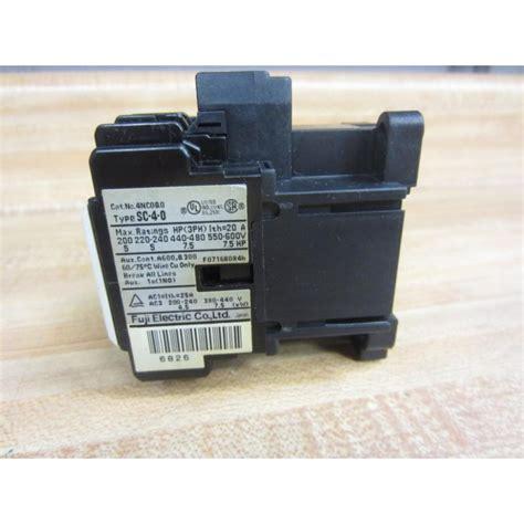Contactor Sc 4 1 Fuji Electric fuji electric 4nc0q0 contactor sc 4 0 used mara industrial