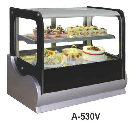 Es Krim 8 Liter Khusus Gosend jual mesin pemajang kue kaca datar countertop cake showcase kapasitas 140 liter a 530v