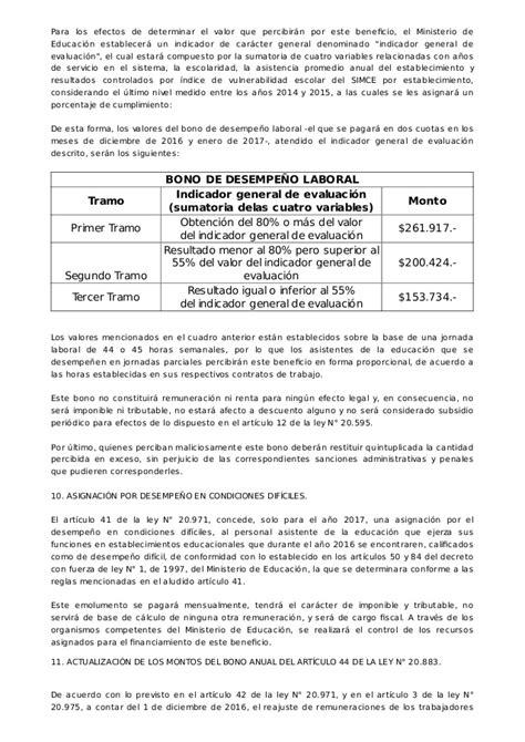 Bonos Fin Se Ao Asistente De La Educacion 2016   dictamen aplicaci 243 n reajuste a 241 o 2016 2017