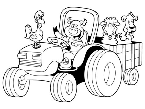 coloring page tractor 301 moved permanently
