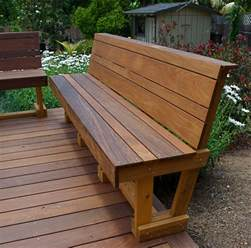Outdoors Benches Ipe Hardwood Bench Modern Outdoor Benches San Diego