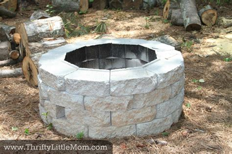 home made firepit easy diy inexpensive firepit for backyard 187 thrifty