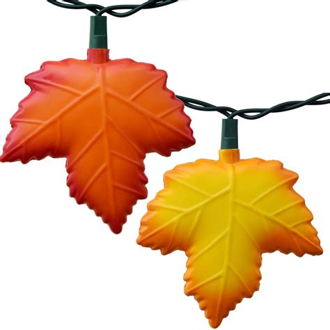 leaf string lights autumn leaf string lights 10 lights