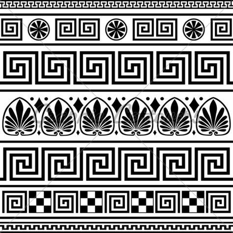 Greek Vase Outline Set Of Vector Greek Borders 183 Gl Stock Images