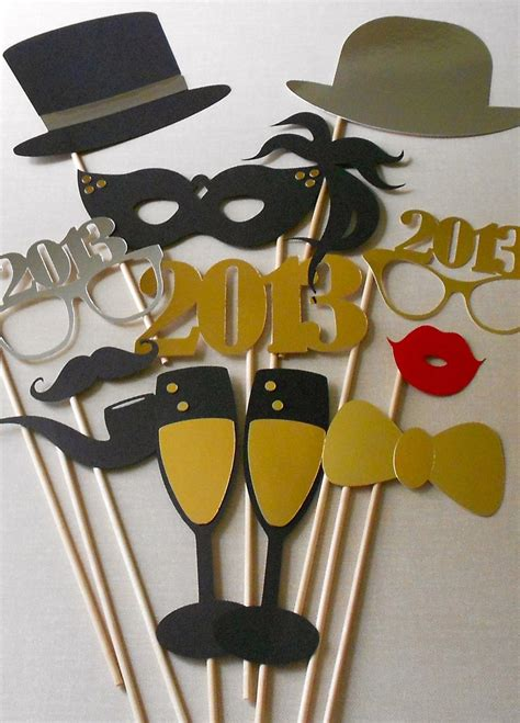 new year photo booth props new year s photobooth props on new years