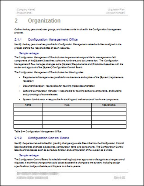 Configuration Management Plan Template Configuration Management Policy Template