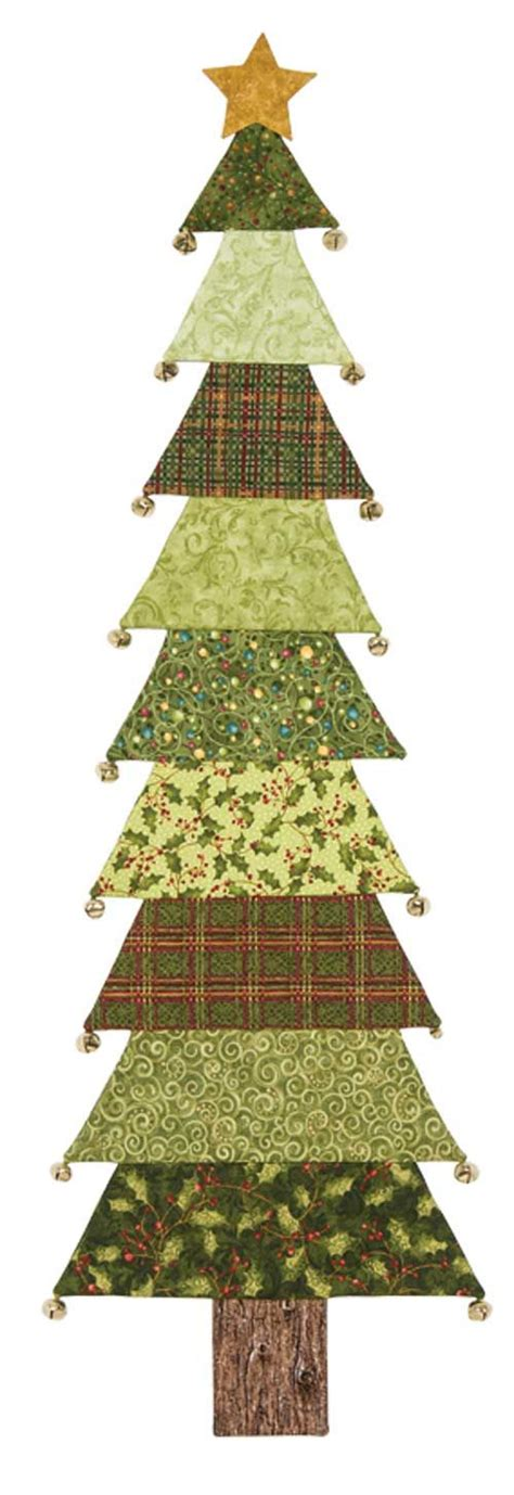 christmas tree wallhanging pattern for evergreen kit holiday tree quilts pinterest