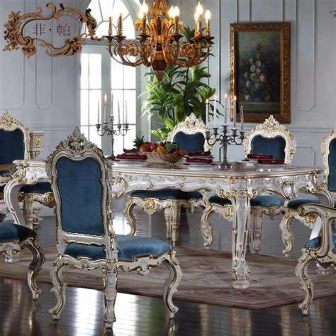 classic dining room tables italian french antique furniture all silver foil royalty