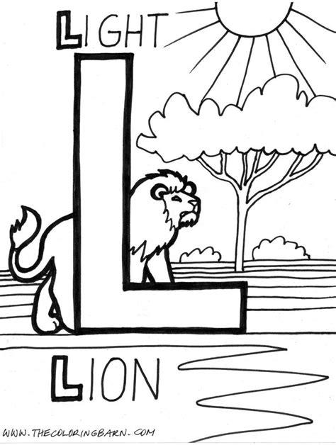 preschool coloring pages letter l 18 best images about alphabet l on pinterest ladder
