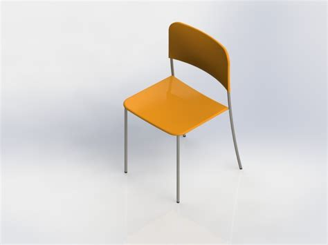 Stuhl 3d Modell by Chair Stoel Stuhl Stl Step Iges Solidworks 3d Cad