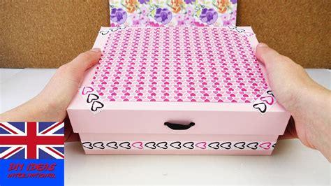 how to make decorative boxes decorative storage box diy cardboard idea safe keeping