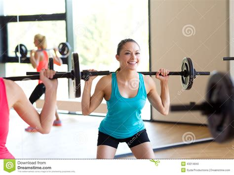 Barbel Sport of with barbells in stock photo image 43214840