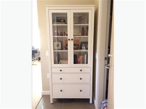 Ikea Display Cabinet W Glass Doors 3 Drawers Victoria Used Display Cabinets With Glass Doors