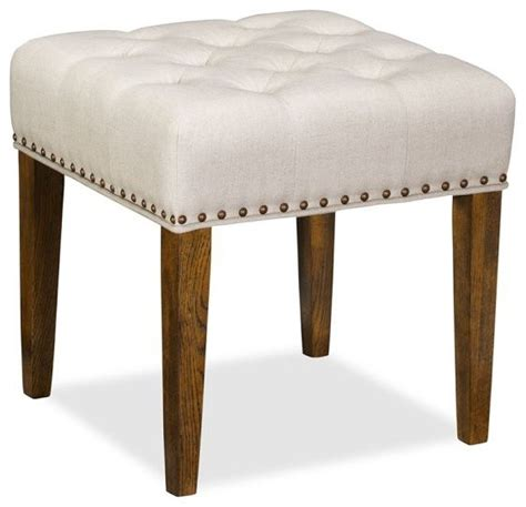 lorraine tufted upholstered desk stool with nailheads