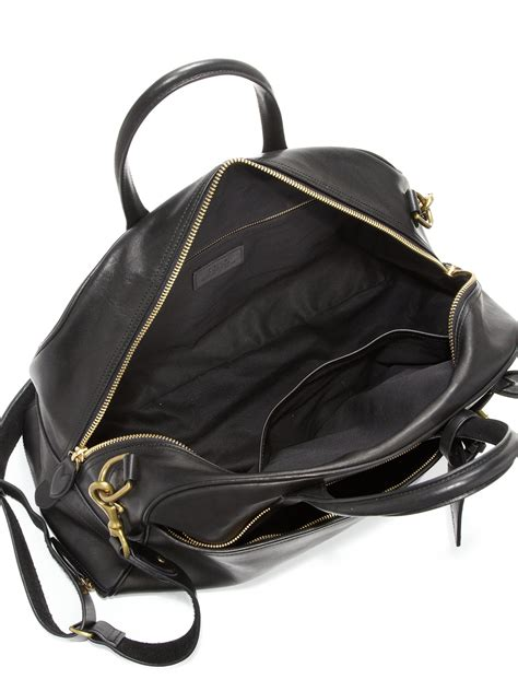 Polo Ralph Holdall polo ralph sport leather holdall in black for