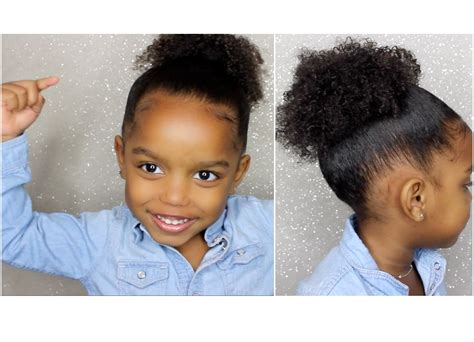 ponytails for biracial children how to create full ponytail for short curly hair for kids