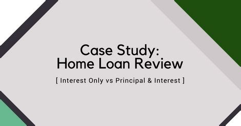 principal repayment of housing loan interest only vs