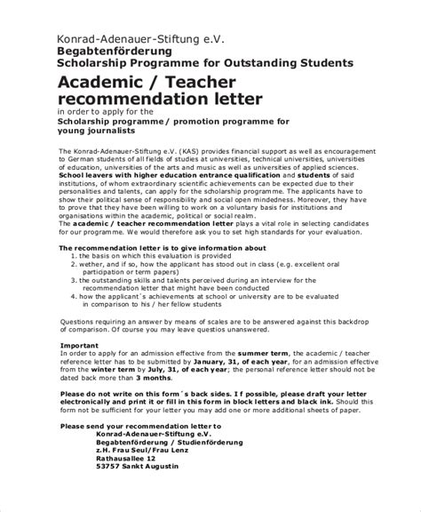 Reference Letter For Outstanding Student Application Letter To Get Scholarship